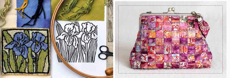 Rug Hooking, Sewing | Hooking an Iris Trivet, It's Purse-onal - Trish Johnson, Lucy Garvin