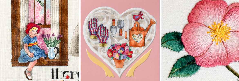 Cross Stitch, Embroidery | There is a Season, Spring with Heart, Rosa Blanda - Jo Gatenby, Maria E. Gollek, Carol Arsenault
