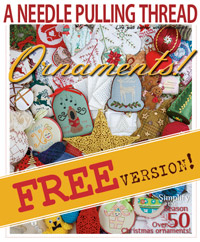 A Needle Pulling Thread FREE Ornaments Issue Cover