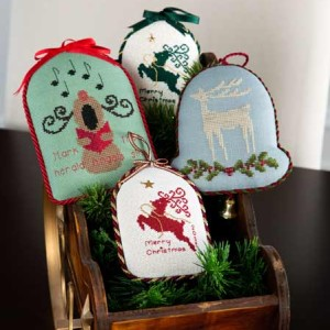 3 Christmas Reindeer Ornaments