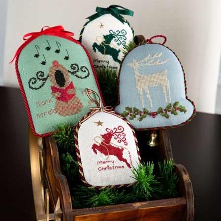 3 Christmas Reindeer Ornaments