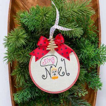 Cute as a Hoop-la! Ornaments