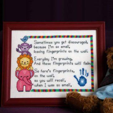 Fingerprints Cross Stitch