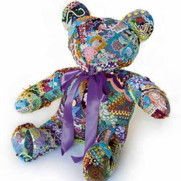 Flora the Crazy Quilt Bear