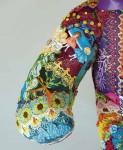 Flora the Crazy Quilt Bear - arm detail