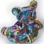 Flora the Crazy Quilt Bear – back view