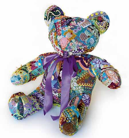 Flora the Crazy Quilt Bear