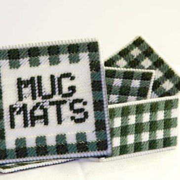 Gingham Mug Mat Set