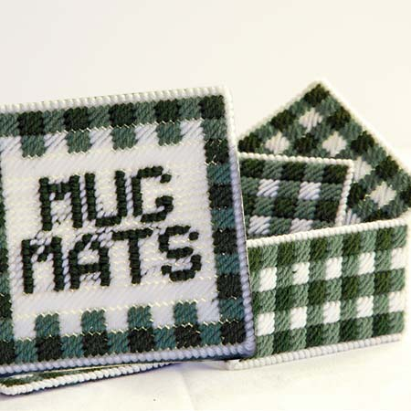 Gingham Mug Mat Set