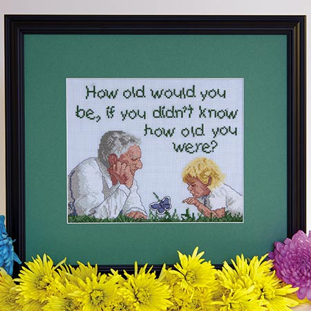 How Old Would You Be? cross stitch pattern
