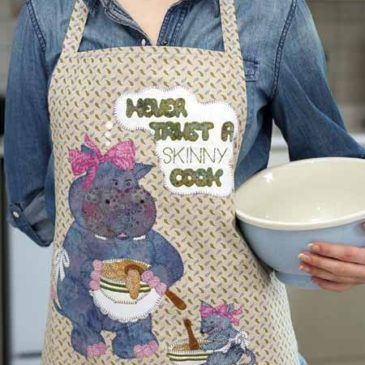 Never Trust a Skinny Cook Reversible Apron