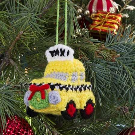 NYC Taxi Cab Ornament