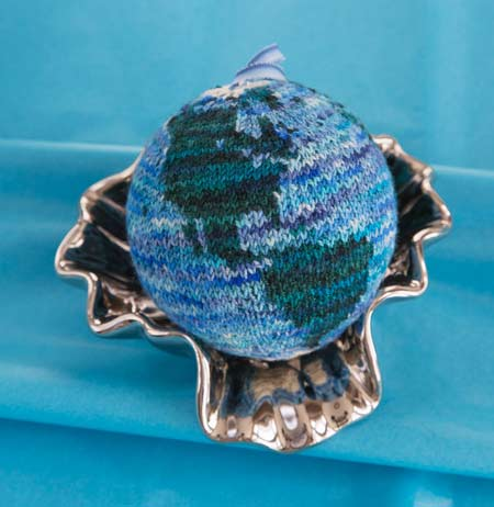 Pale Blue Dot Knitted Ornament