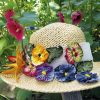 Pansy hat from set