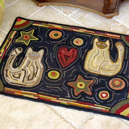 The Boys Primitive Hooked Rug