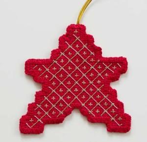 Trelliswork Star Ornament