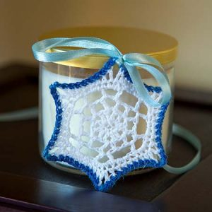 'V' Stitch Snowflake Ornament