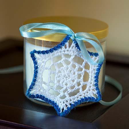 'V' Stitch Snowflake Ornament