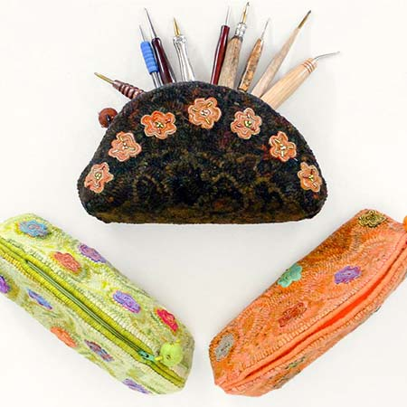 Zippered Tool Pouch for Rug Hookers