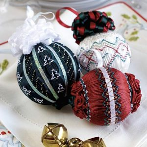 Trio of Smocked Ornaments