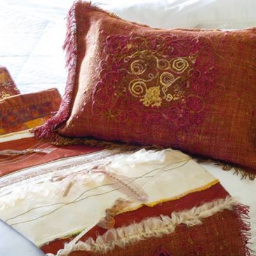 Copper Flair Bed scarf and Pillow