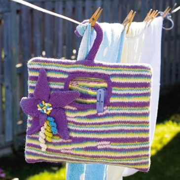 Felted Clothes Pin Bag