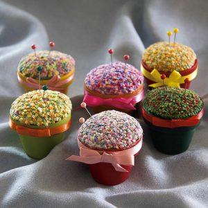 Flowerpot Pincushions