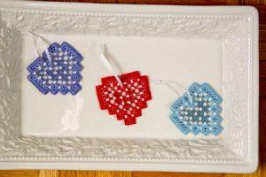 I Heart Hardanger Ornaments 2