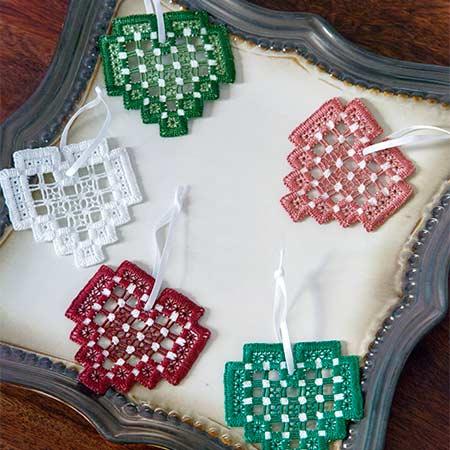 I Heart Hardanger Ornaments