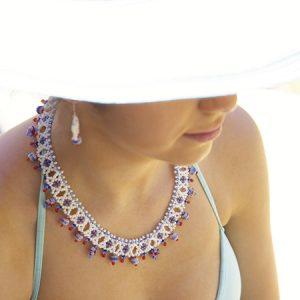 Millefiori Mosaic Collar & Earrings