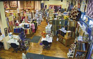 The Quilt Store floor room