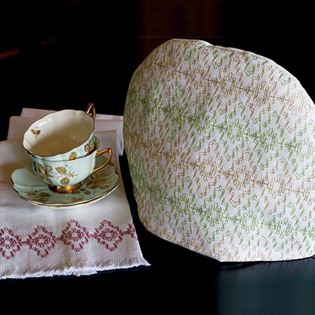 Victorian Christmas Lace Tea Cozy and Tea Towel set