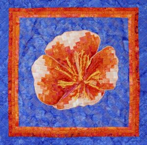 Bargello Poppy Wallhanging