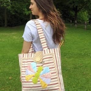 Flutterby Summer Tote