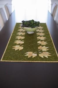 Golden Leaf Table Runner on table