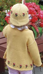 Rosie Sweater and Hat Set - back view