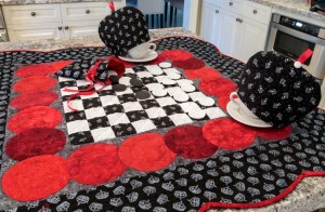 Charming Checkerboard Table Topper