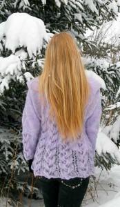 Purple in Winter Wonderland - back view