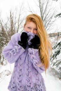 Purple in Winter Wonderland - front view
