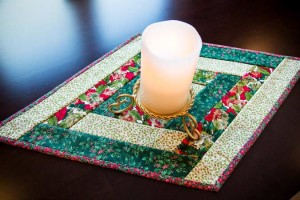 Quilt-as-you-go Reversible Table Runner