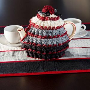 Winter Rose Tea Cozy