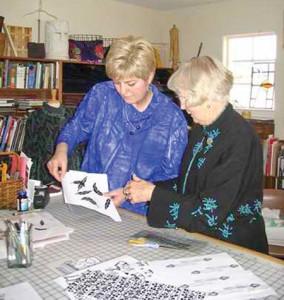 Barb Alexander and Lois Ericson
