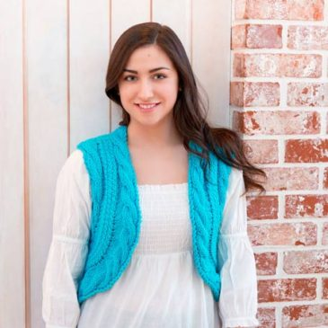 Chunky Knit Cabled Vest