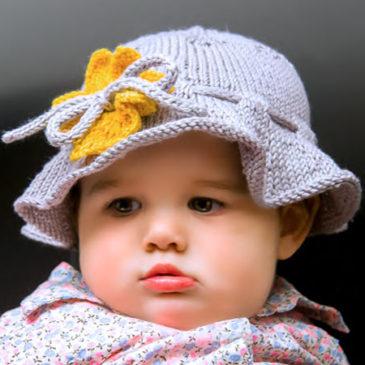 Floppy Sunflower Baby Hat