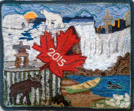 Pan Am Games 2015 hooked rug 3