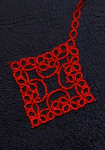 Charming Tatted Bookmark detail 1