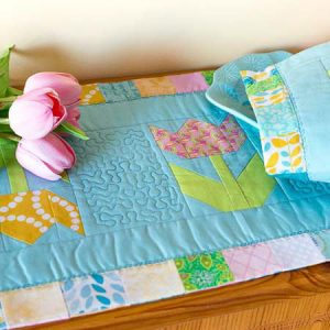Spring Garden Path Table Runner