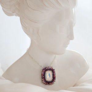White Opal Spring Brooch