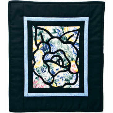Canterbury Rose Stained Glass Quilt