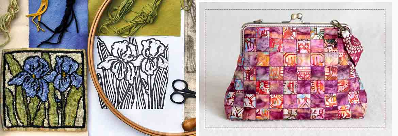 Rug Hooking, Sewing   Hooking an Iris Trivet, It's Purse-onal - Trish Johnson, Lucy Garvin